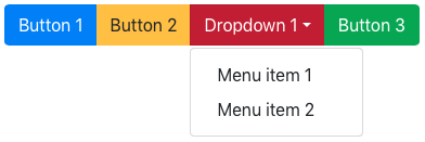 Button group with dropdown menu